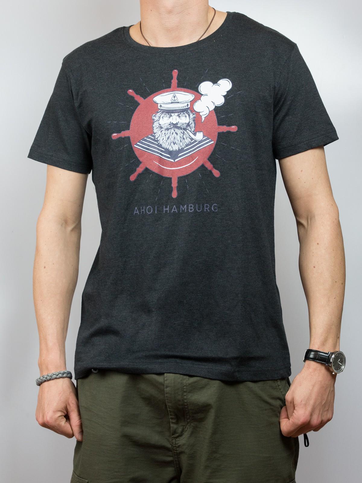"""T-Shirt """"Captain Ahoi Hamburg"""""""