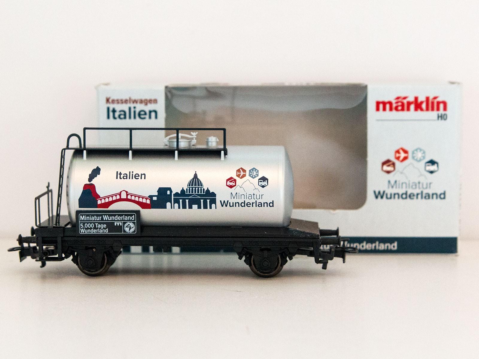 """Sonderwagen H0 Märklin 2015 Kesselwagen """"5000 Tage Wunderland - Italien"""""""