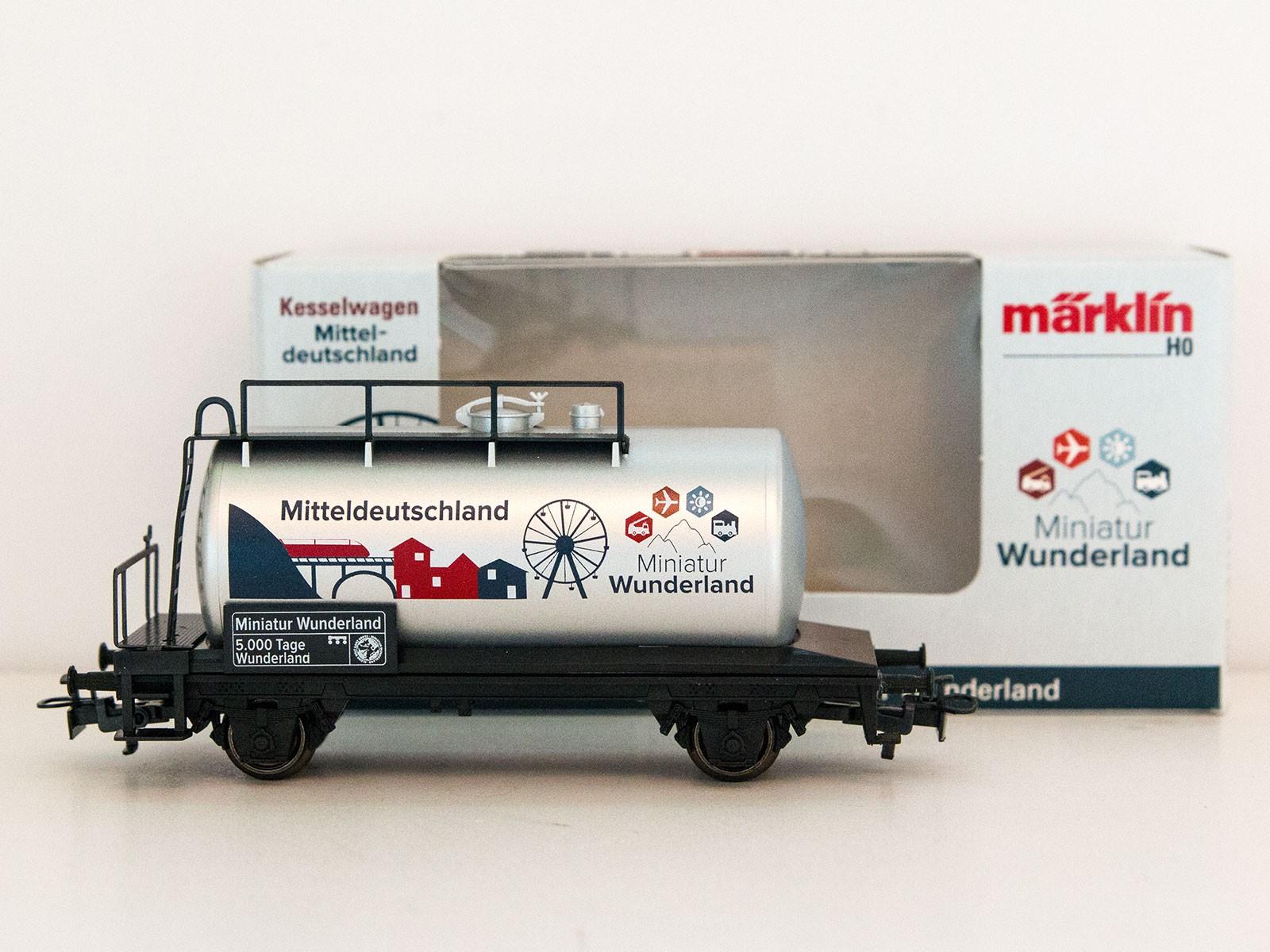 """Sonderwagen H0 Märklin 2015 Kesselwagen """"5000 Tage Wunderland - Mitteldeutschland"""""""