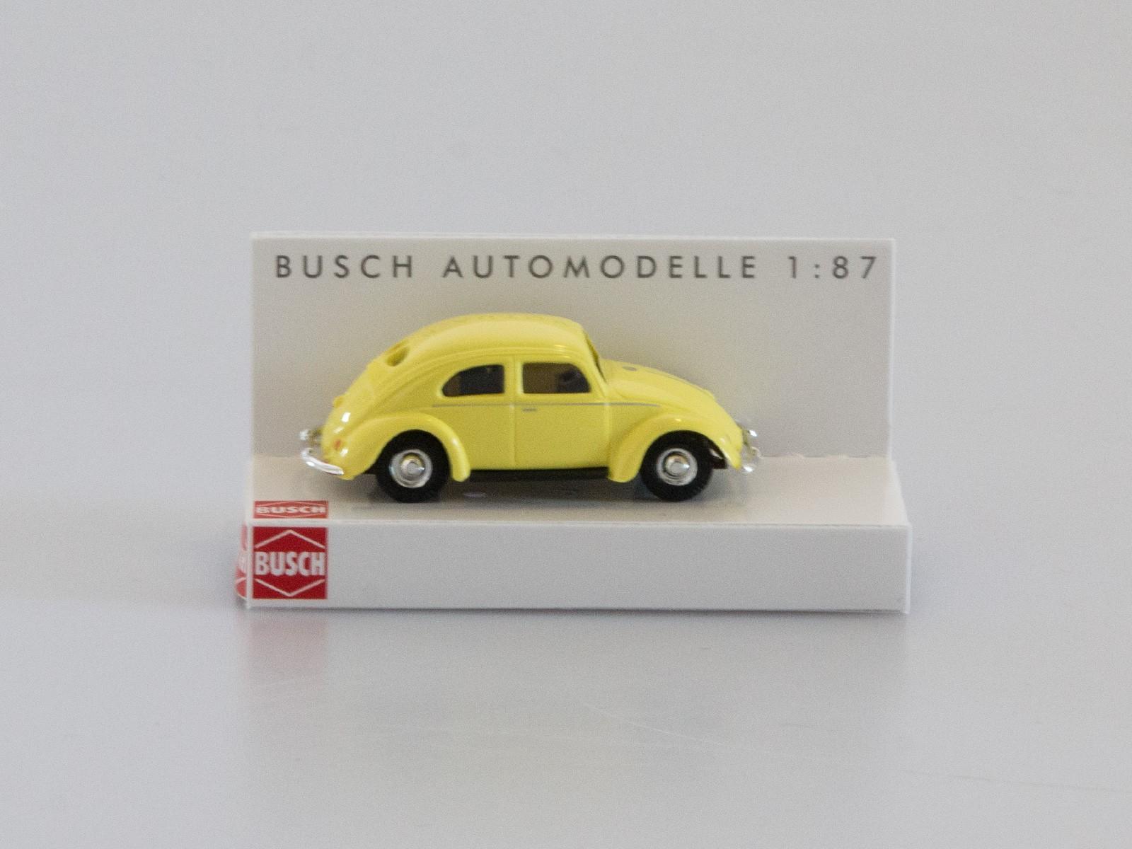 Busch H0 42700-112 VW Käfer mit Brezelfenster schwefelgelb