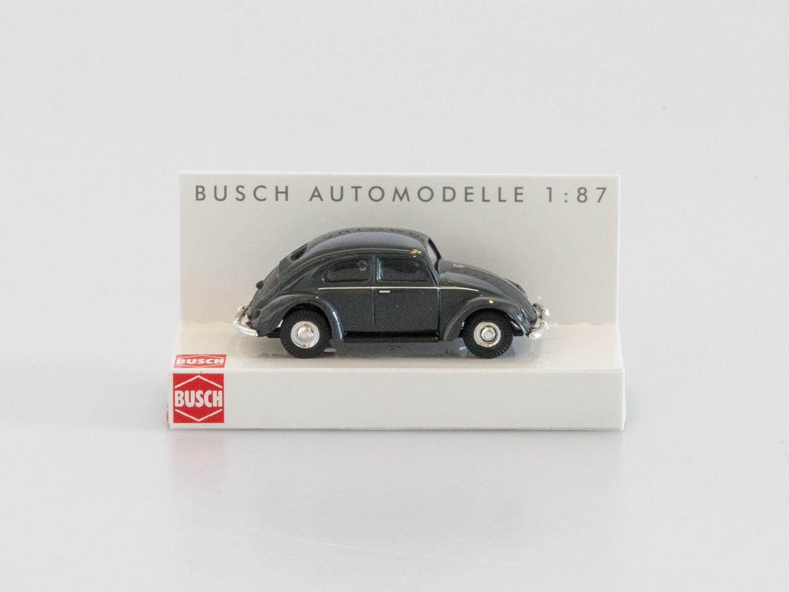 Busch H0 42700-112 VW Käfer mit Brezelfenster SW-metal