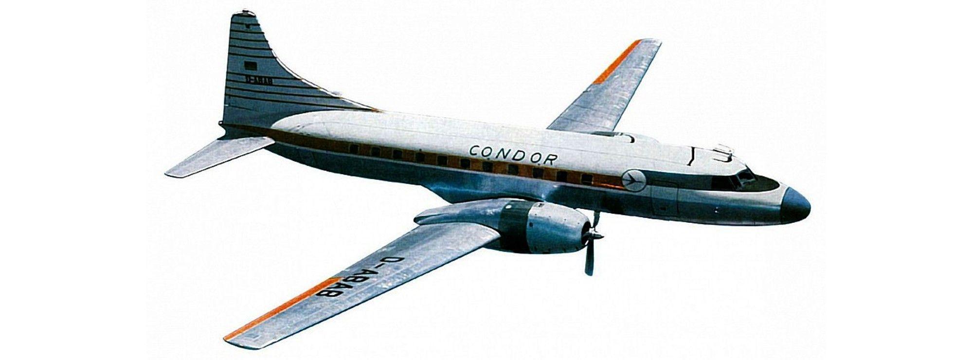 Herpa Wings 523196 Condor Convair CV-440 1:500
