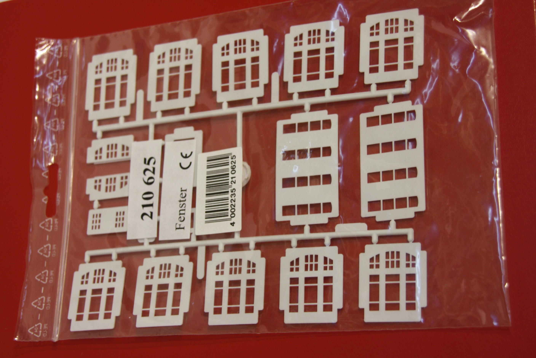 Kibri 210625 H0 Fenstereinsätze weiß