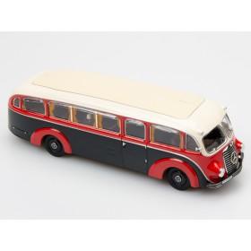 Premium ClassiXxs 010642 (bubmobile) MB LO3500 Konferenz- und Salonwagen Rot/schwarz 1:43