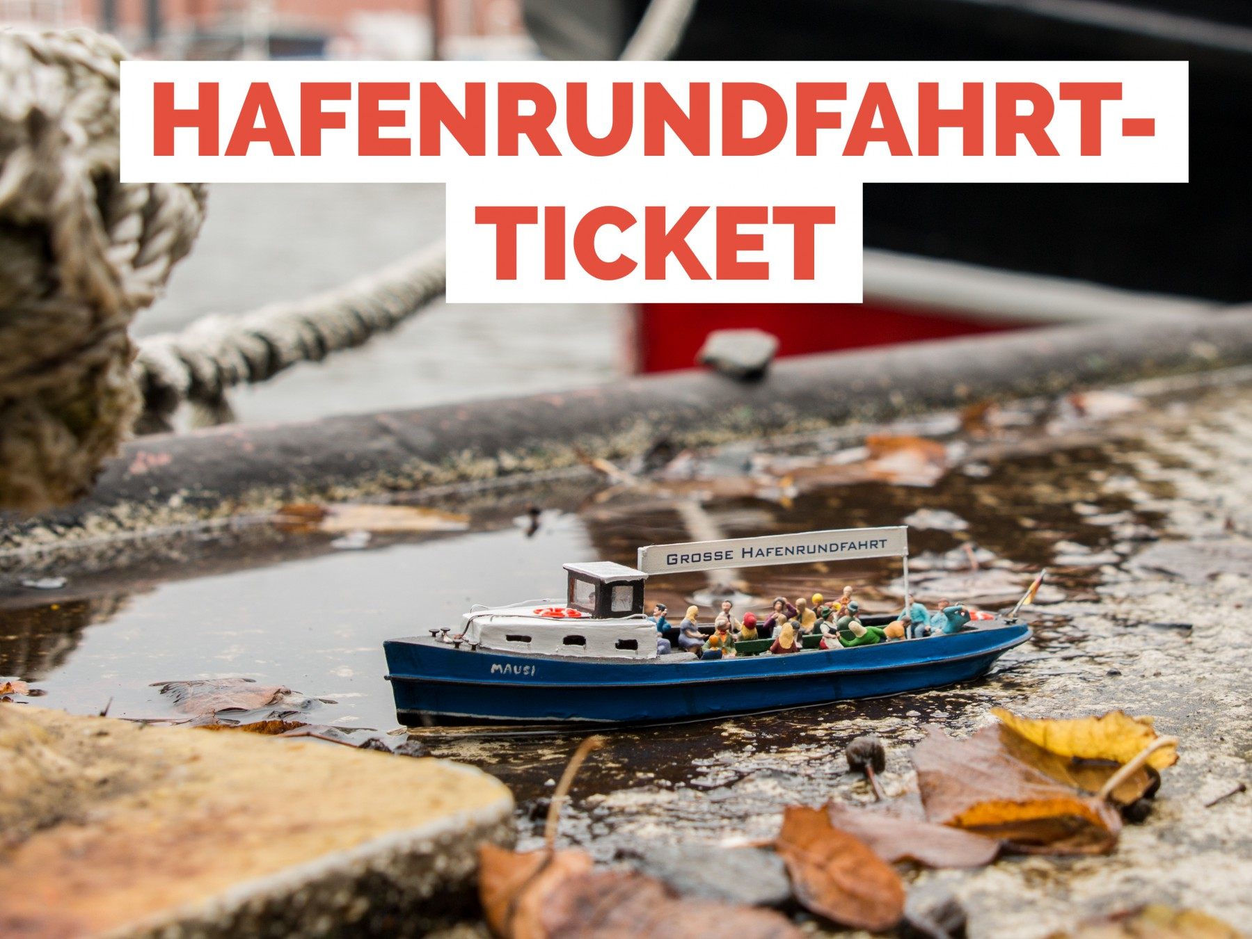 Ticket Hafenrundfahrt Hamburg Erwachsener Miniatur