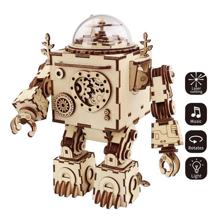 Musik-Box Roboter 3D Puzzle Holz - Robotime ROKR AM601