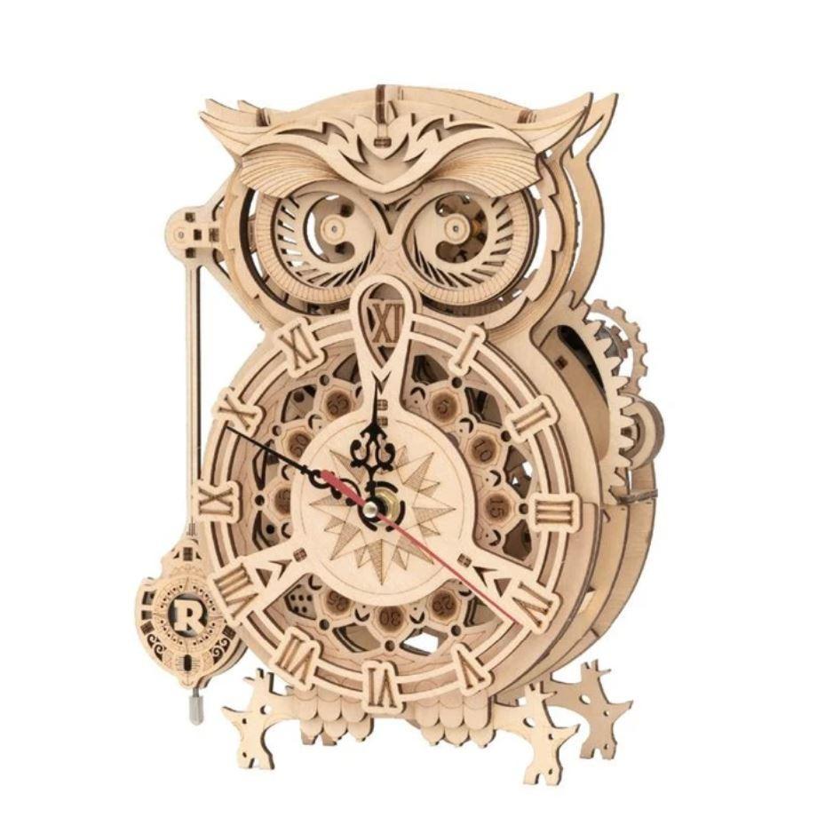 Owl Clock 3D Puzzle Wood - Robotime ROKR LK503
