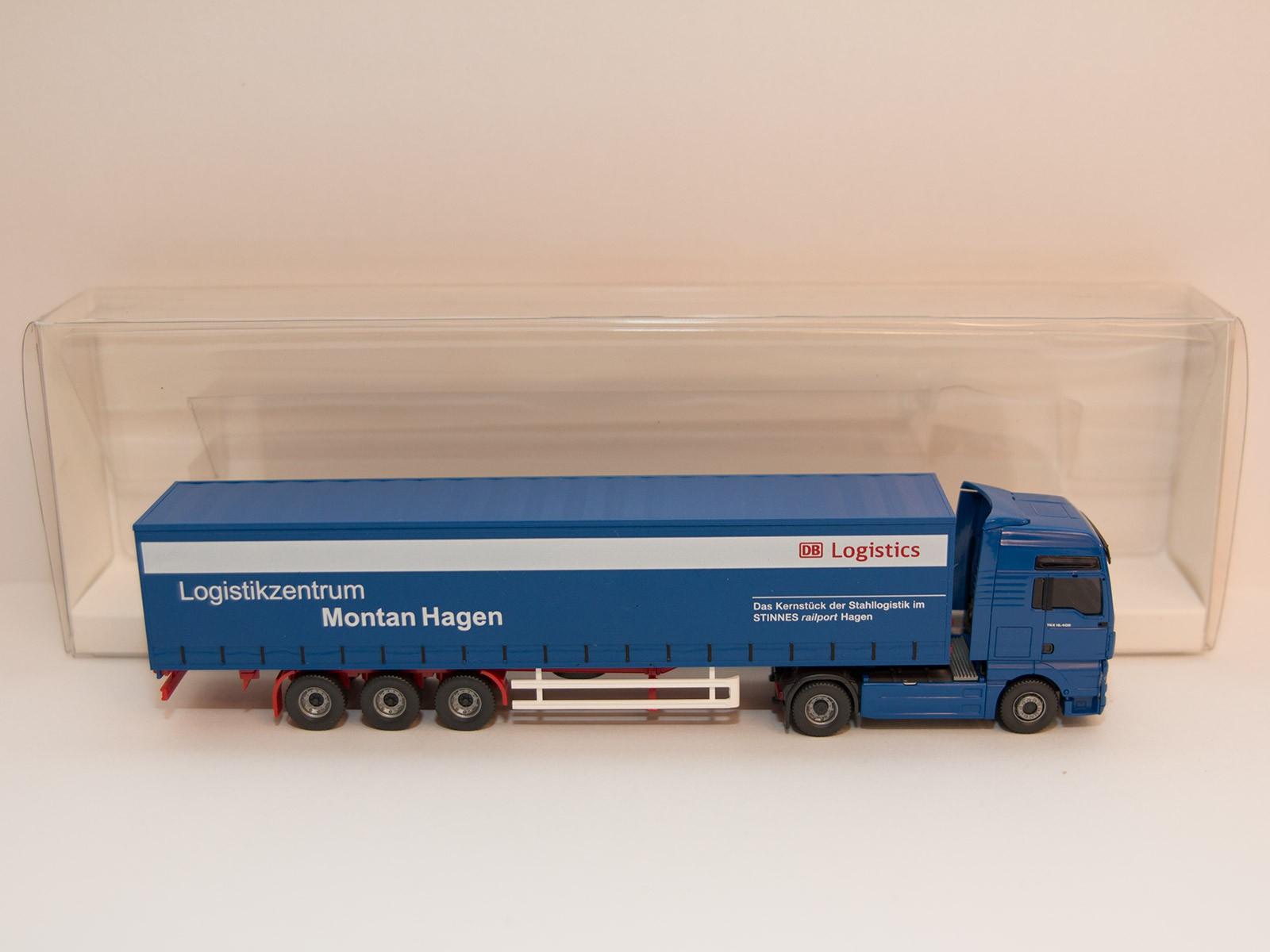 "Wiking 053705 Gardinenplanensattelzug (MAN TGX) ""Montan Hagen"""
