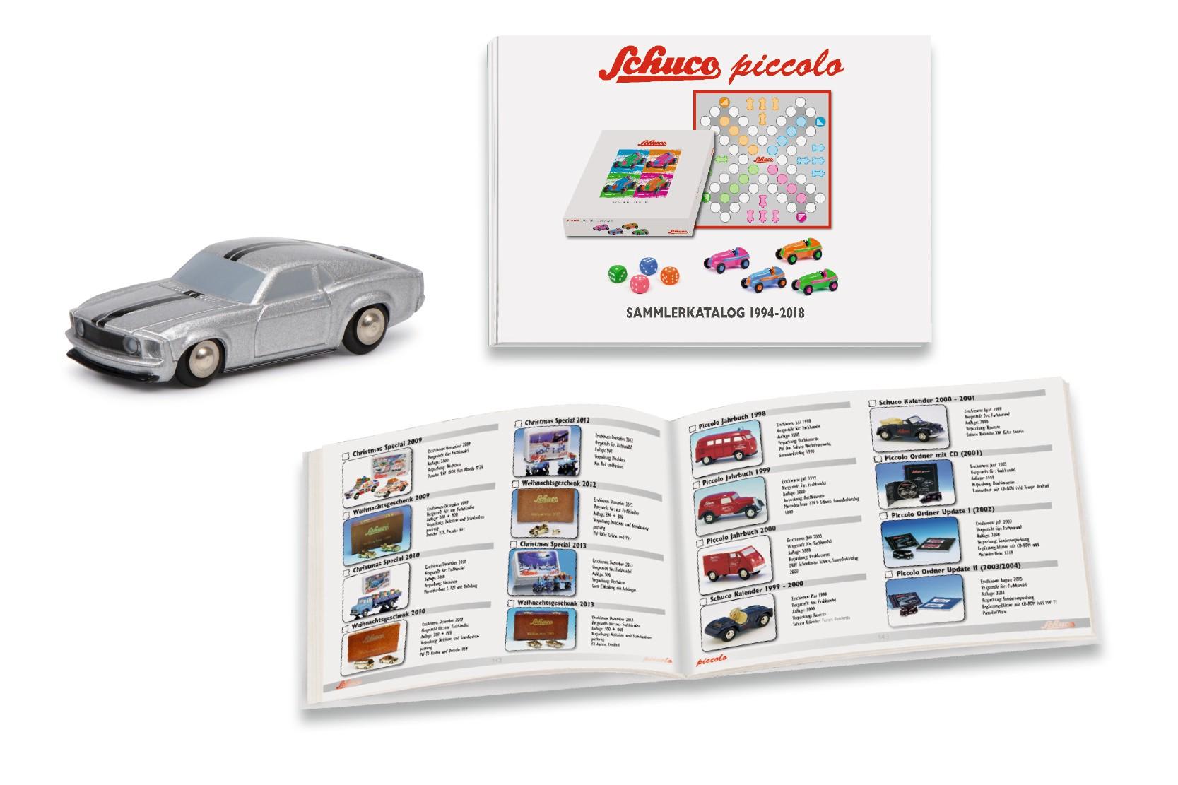 Schuco 450607400 Set Piccolo-Sammlerkatalog 1994-2018 mit Mustang