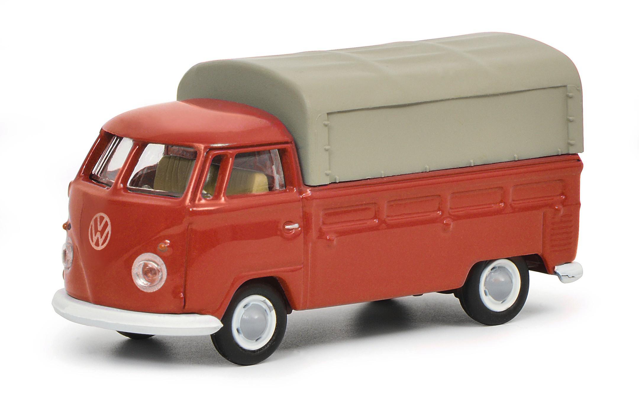 Schuco 452644300 VW T1b Pritsche-Plane rot