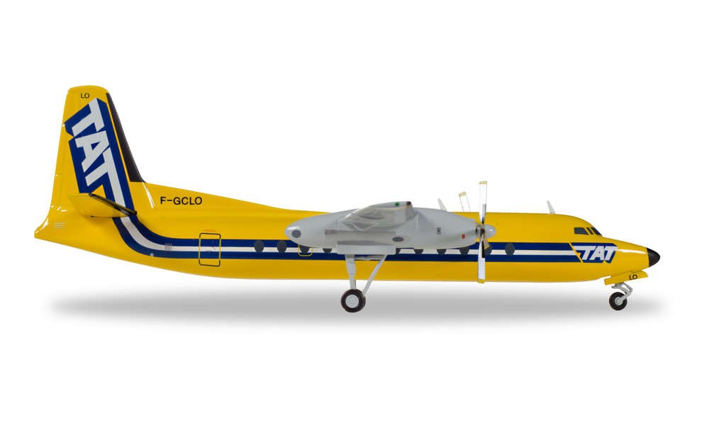 Herpa 558594 Wings Fairchild Hiller FH-227 TAT European Airlines 1:200