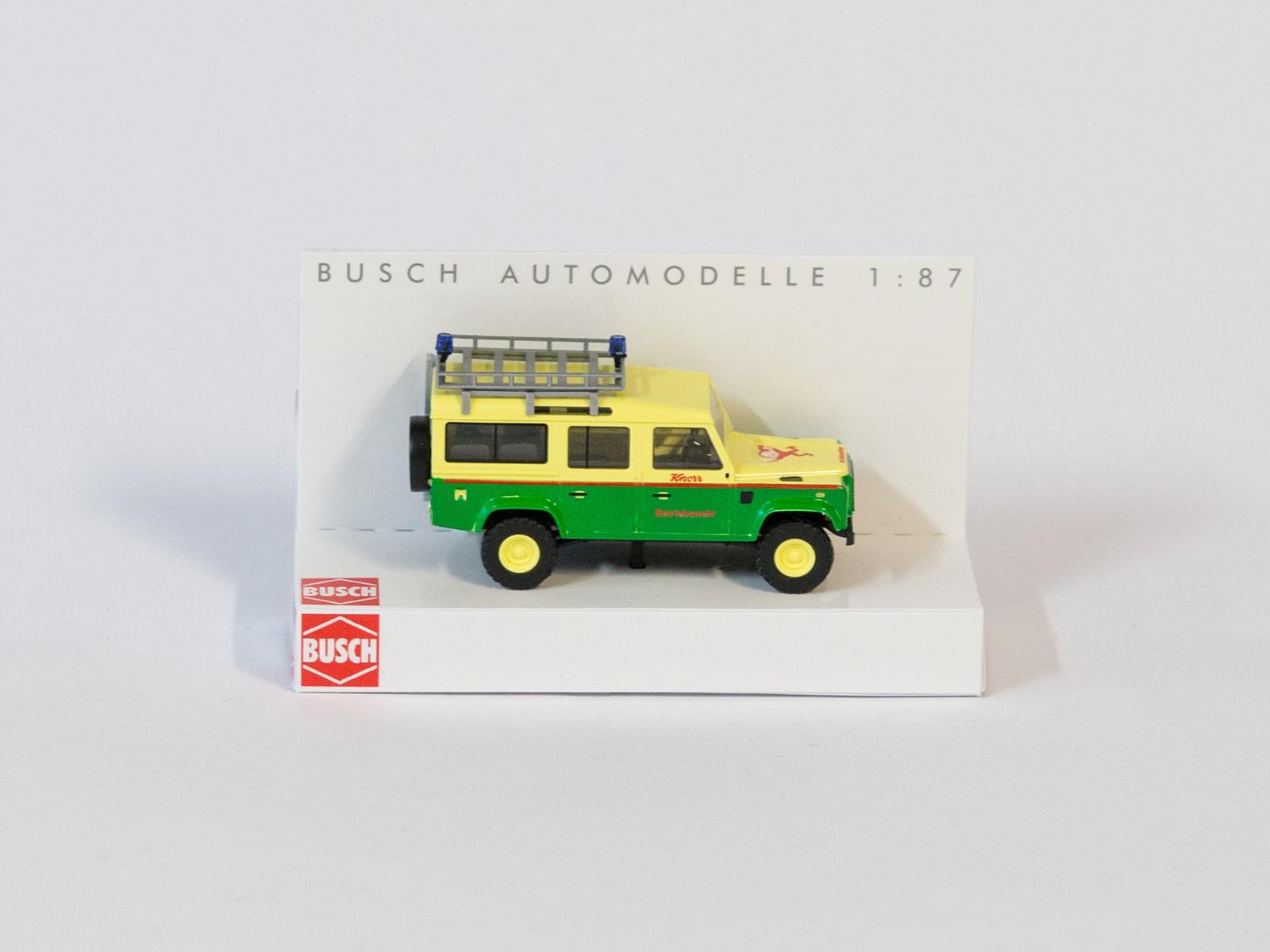 """Busch 50320 H0 LandRover Defender """"Knorr Betriebswehr"""""""