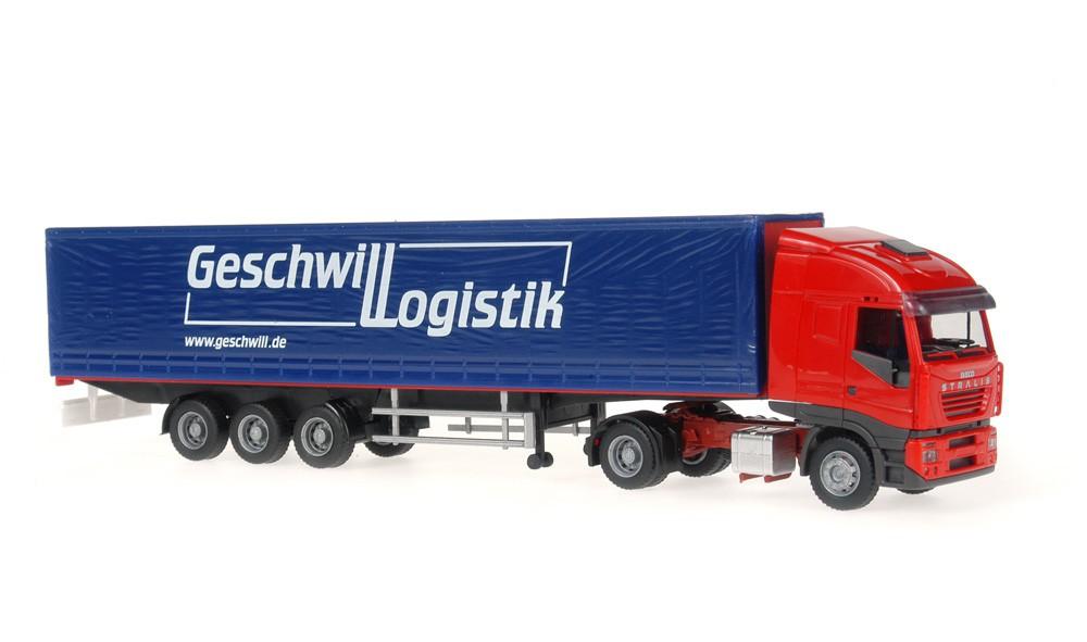 Rietze 60852 Iveco Stralis Sattelzug Geschwill Logistik