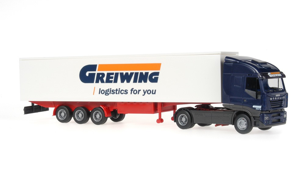 Rietze 60853 Iveco Stralis Sattelzug Greiwing