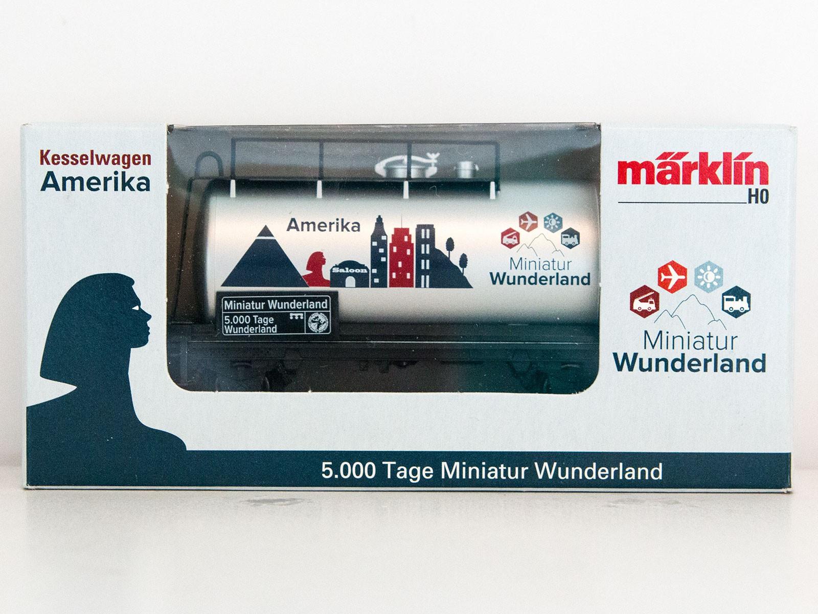 "Limitierter Sonderwagen H0 Märklin 2015 Kesselwagen ""5000 Tage Wunderland - Amerika"""