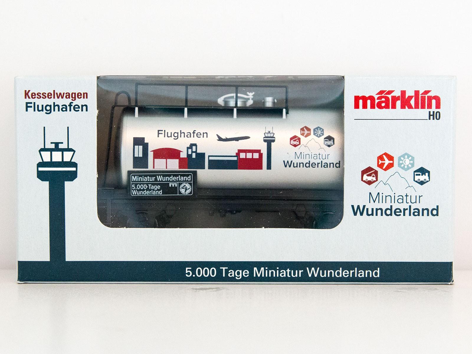 """Limitierter Sonderwagen H0 Märklin 2015 Kesselwagen """"5000 Tage Wunderland - Flughafen"""""""