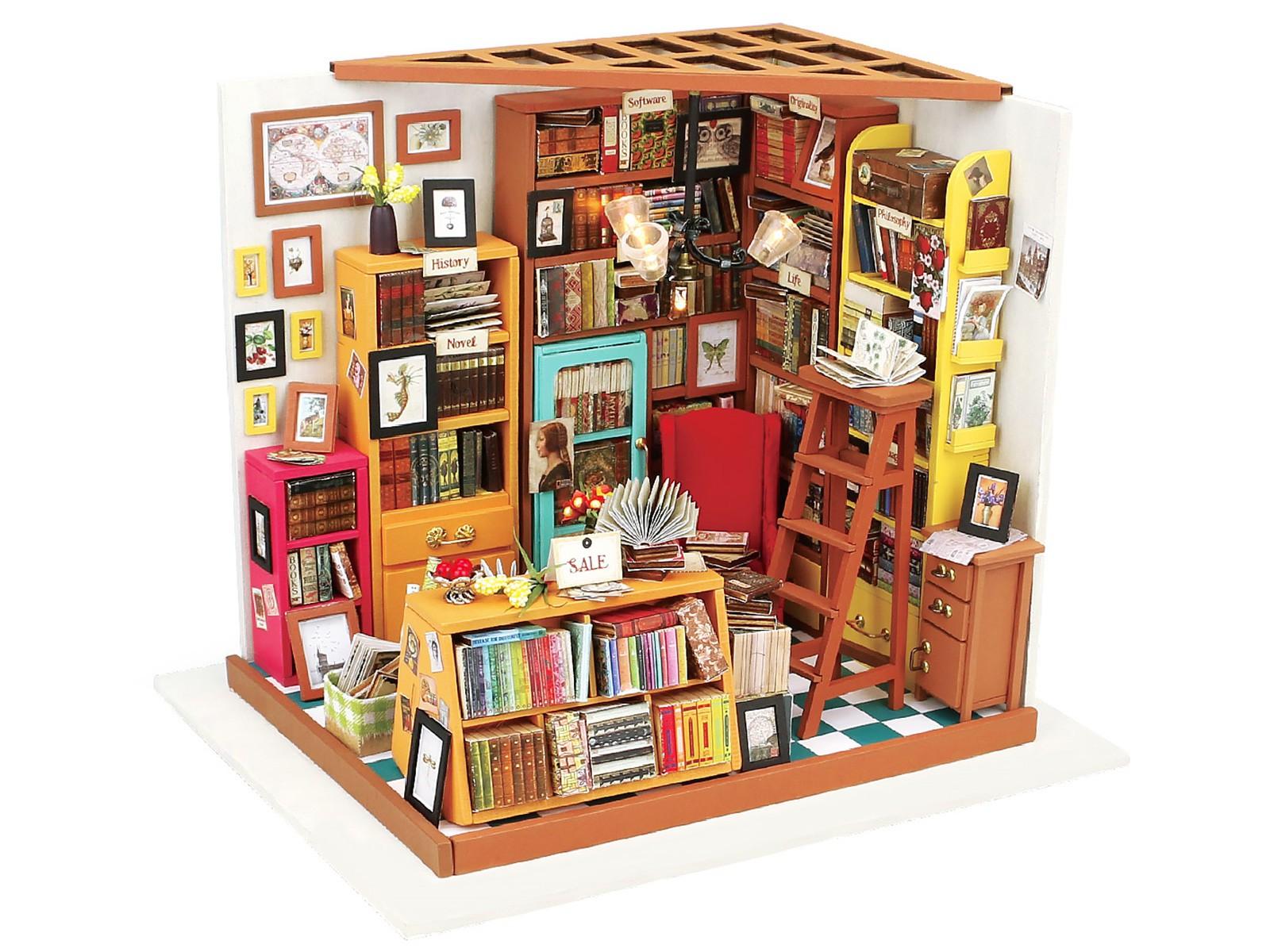 "3D Puzzle Holzhaus Bibliothek Studierzimmer ""Robotime"""