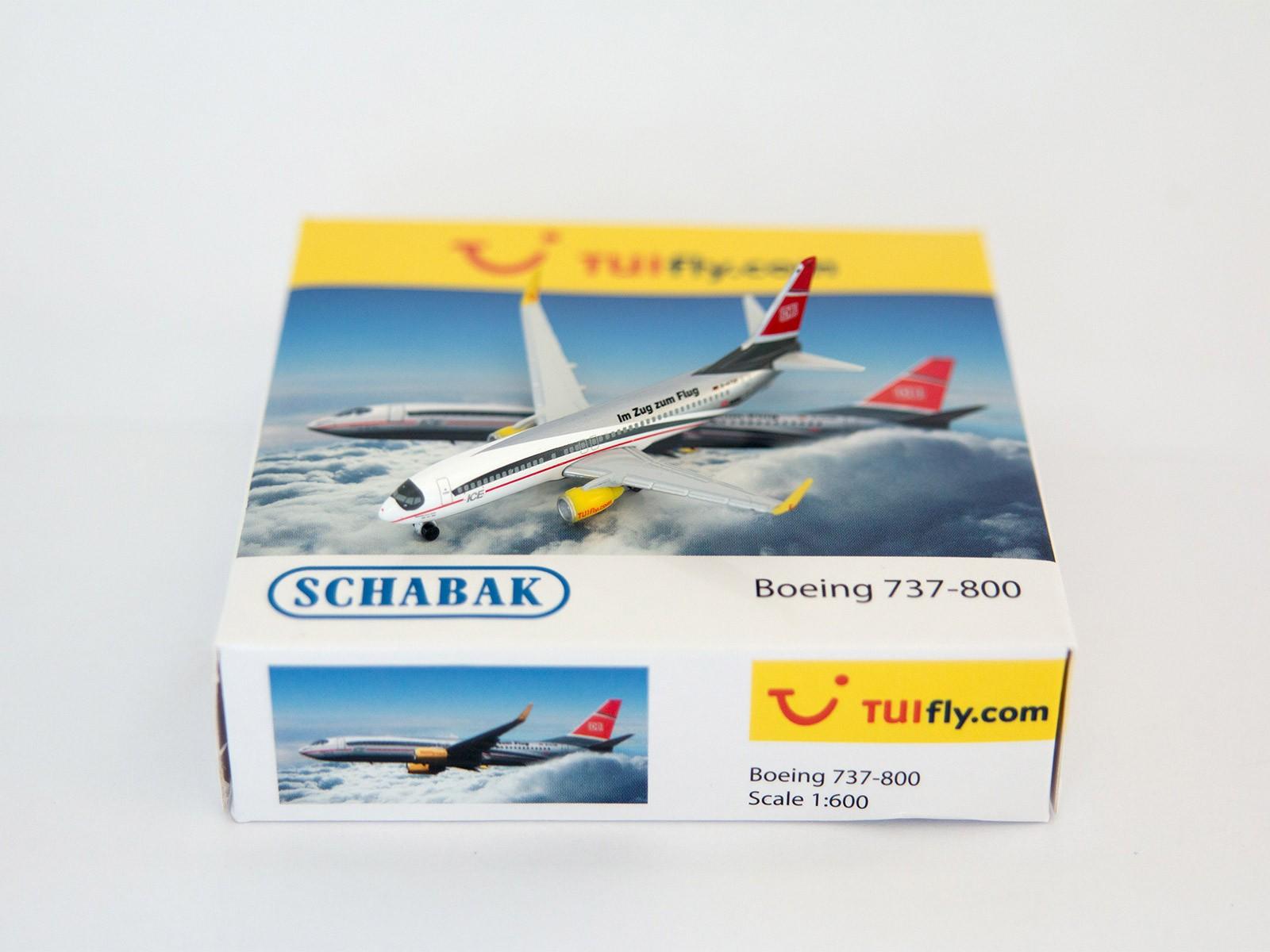 "Schuco/Schabak 3551619 Boeing 737-800 TUIfly.com ""Zug zum Flug ICE"" 1:600"