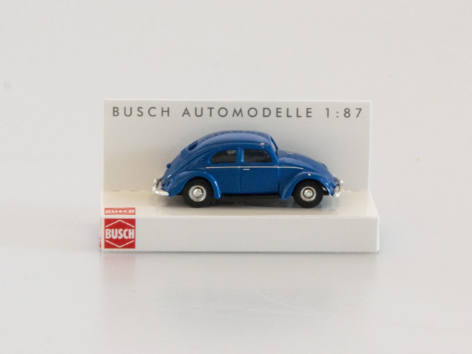 Busch H0 42700-112 VW Käfer mit Brezelfenster dunkelblau