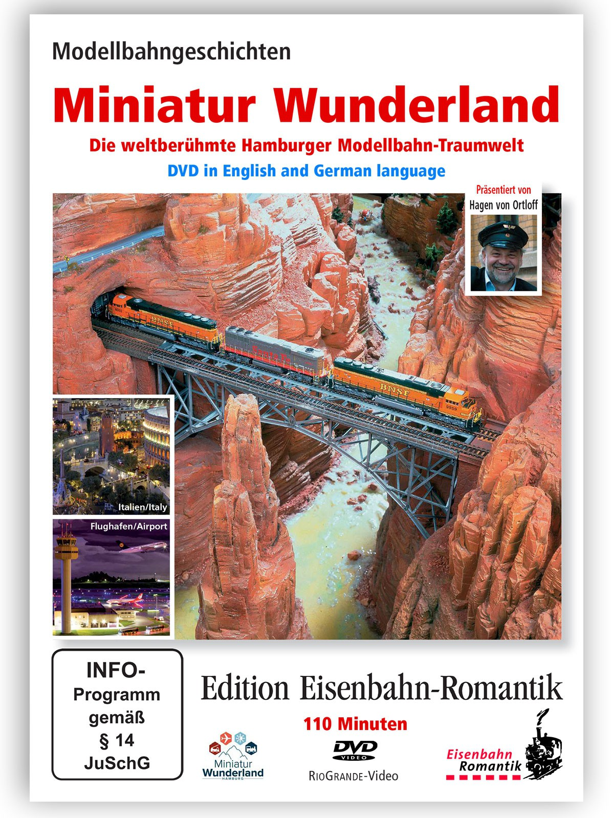 "DVD Eisenbahn Romantik ""Miniatur Wunderland""  PAL (deutsch & englisch)"