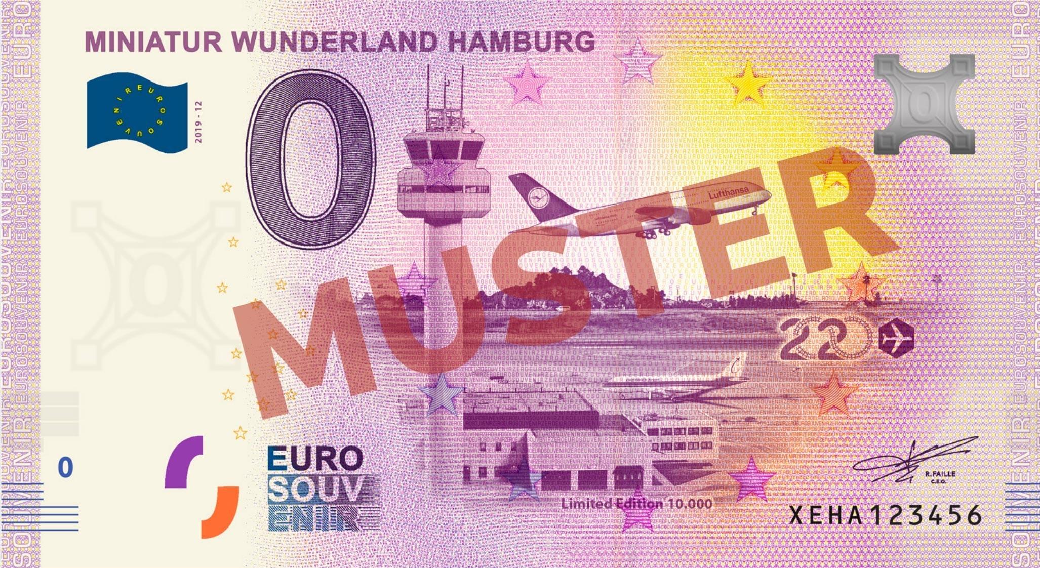 """Euro-Souvenirschein Motiv """"Flughafen"""" (2020-12)"""