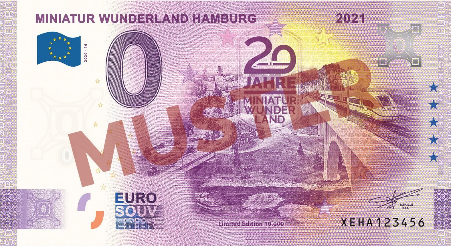 "Euro-Souvenirschein Motiv ""Maintalbrücke"" (2021-16)"