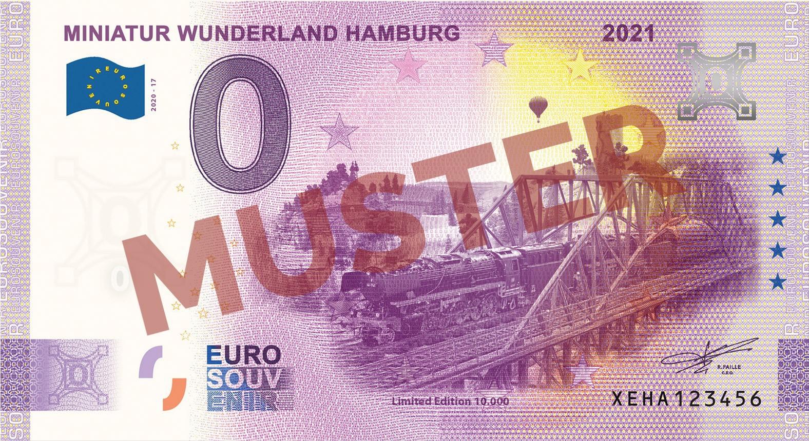 """Euro-Souvenirschein Motiv """"BR44 Langer Heinrich"""" (2021-17.2) Anniversary-Edition"""