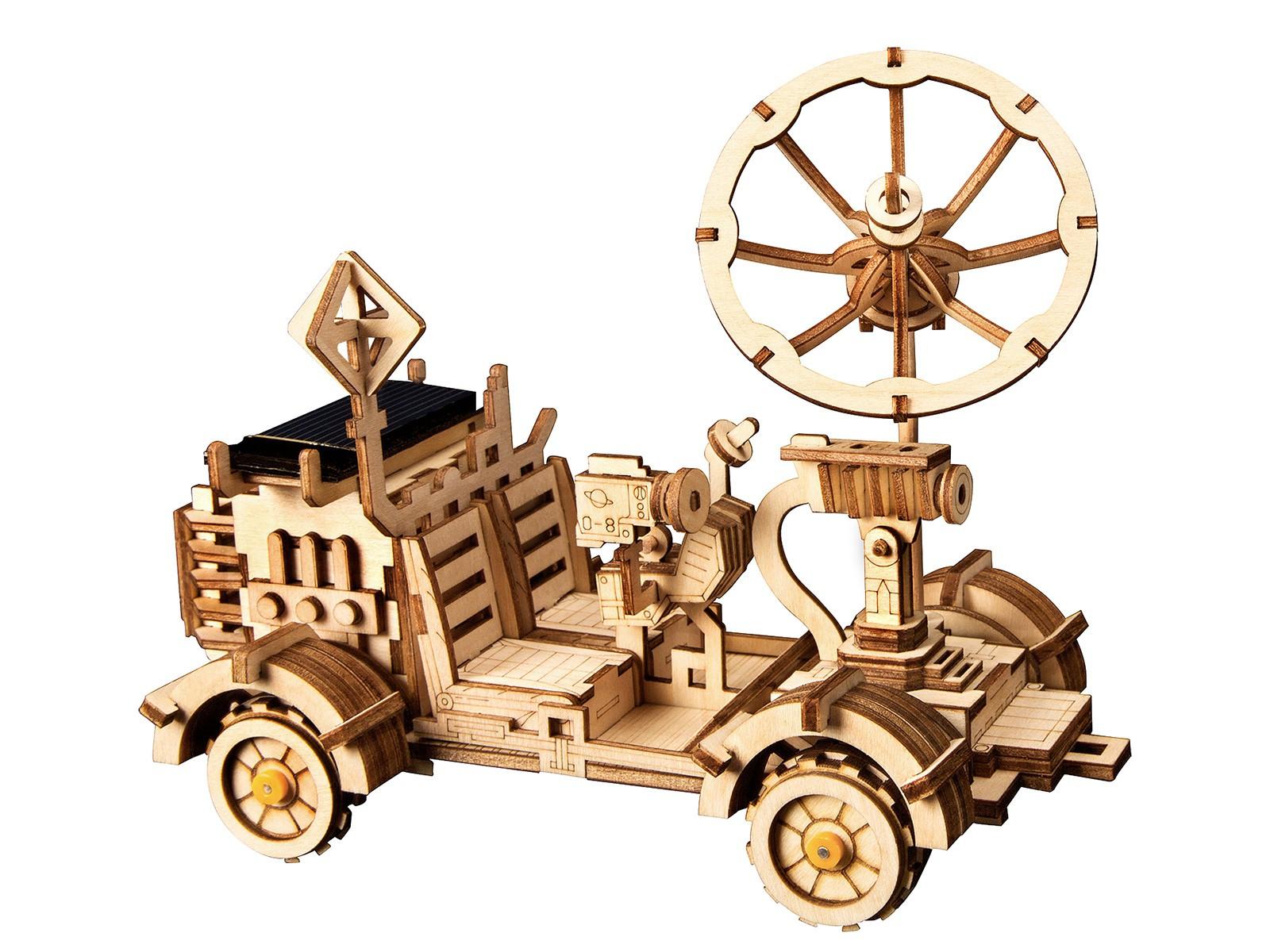 Mondauto - bewegtes Holzmodell