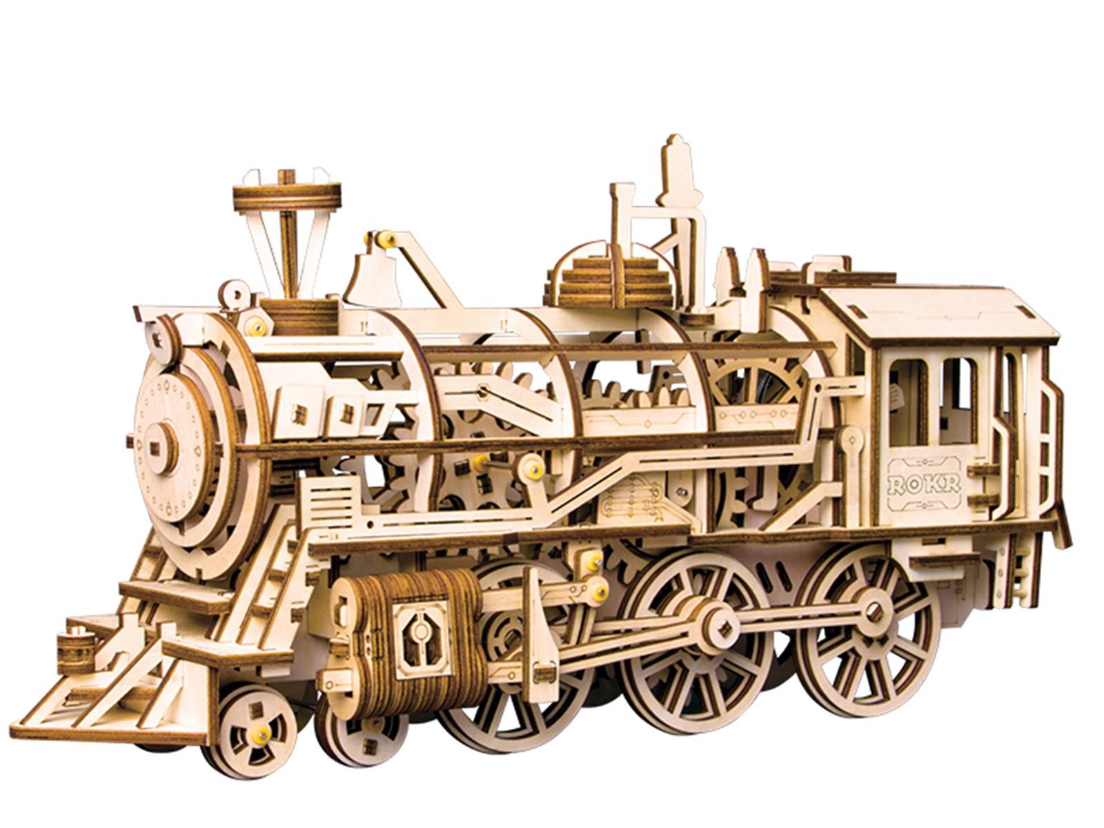 Lokomotive - bewegtes Holzmodell