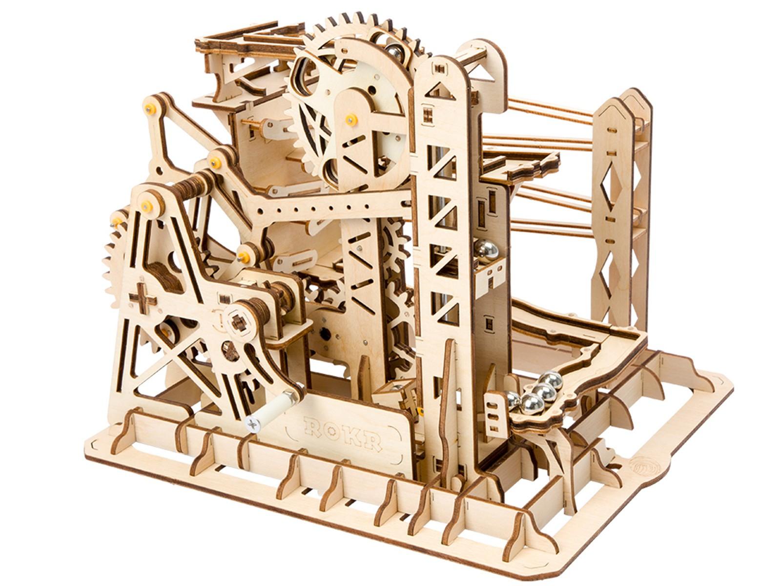 Kugelbahn / Murmelbahn 3D Puzzle Holz Lift - Robotime ROKR LG503