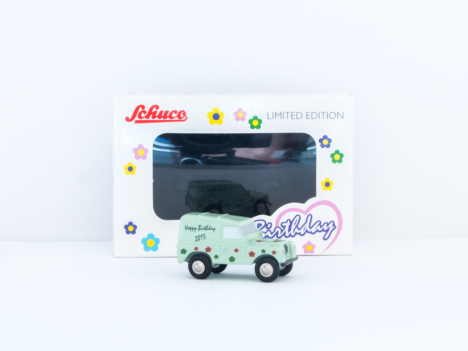 "Schuco Piccolo 05026 Landrover ""Happy Birthday 2015"" 1:90"
