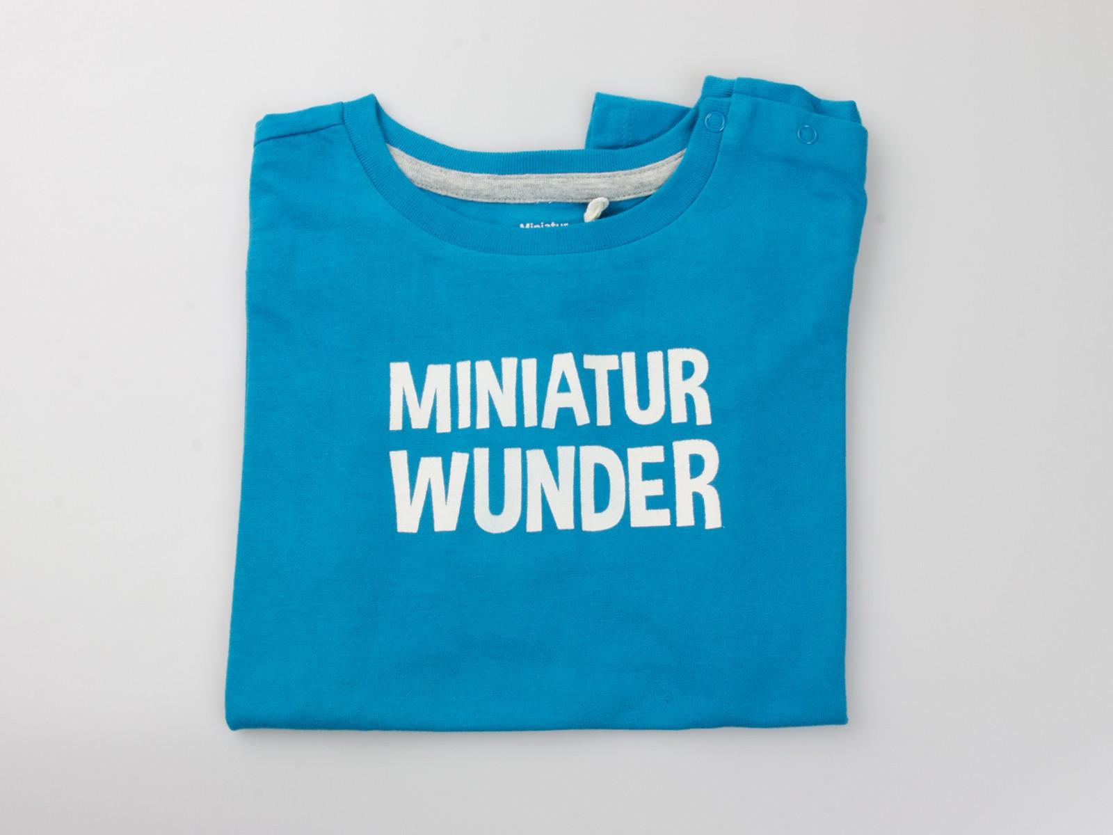 """T-Shirt """"Miniatur Wunder"""" blau"""
