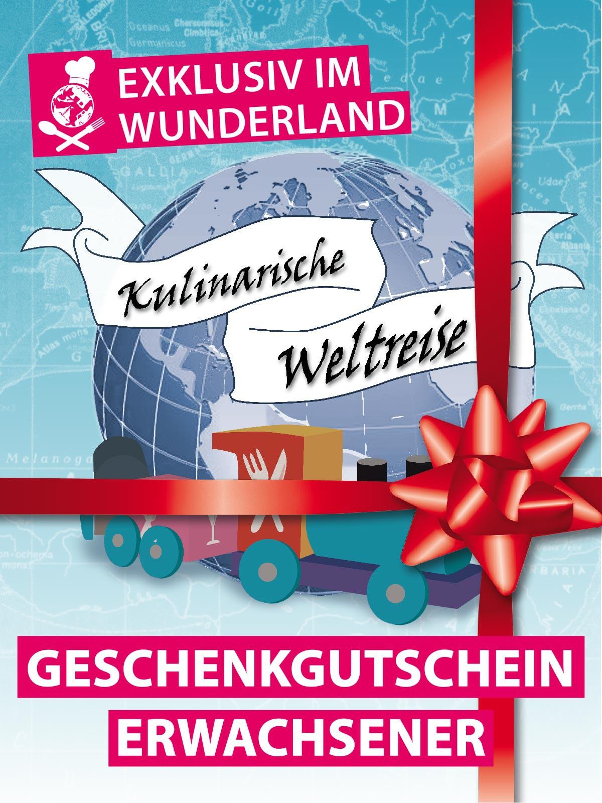 """""""Kulinarische Weltreise"""" Geschenkgutschein Erwachsener"""