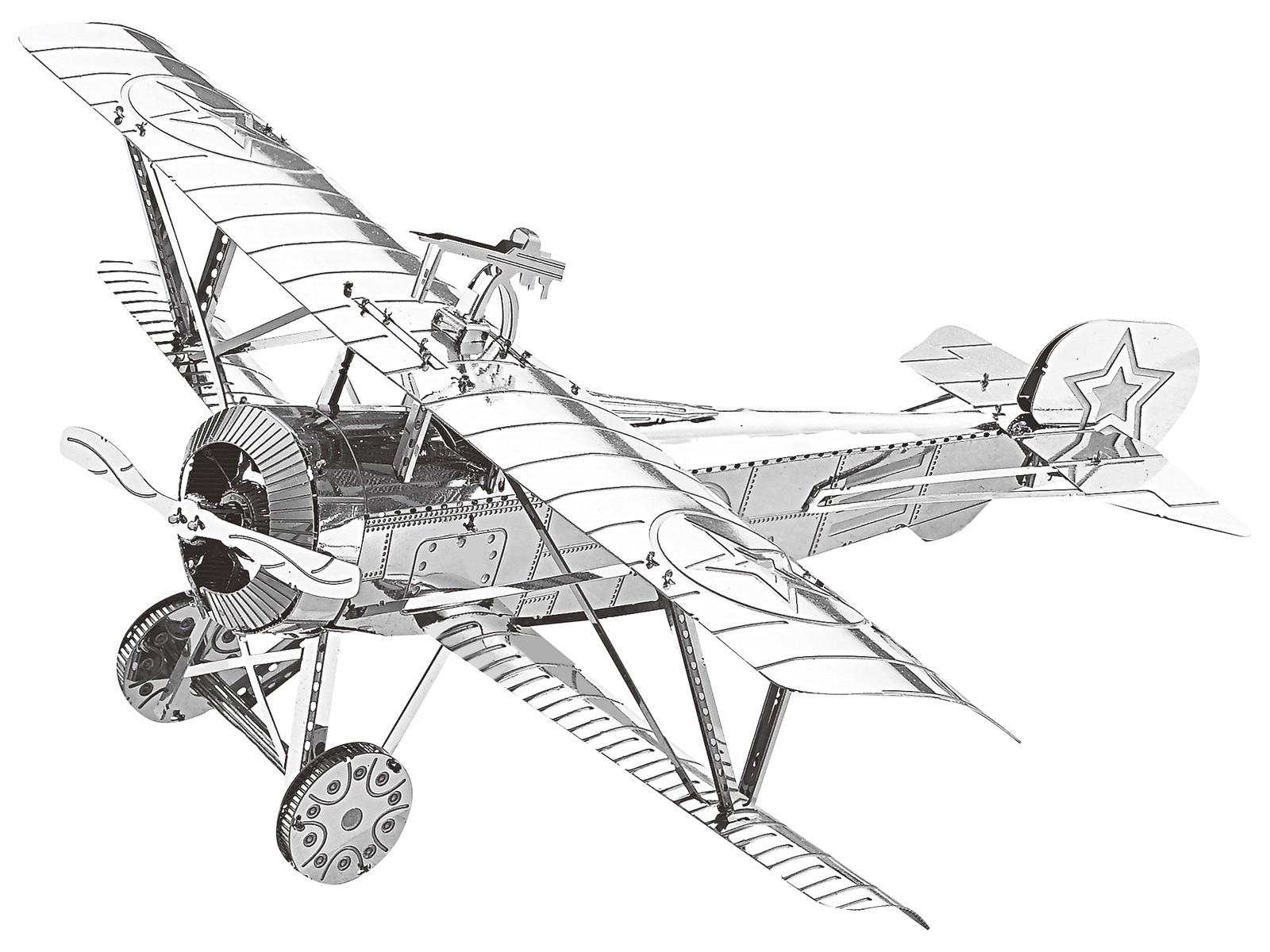 Mini-Metallbausatz Fokker D.VII Jagdflugzeug