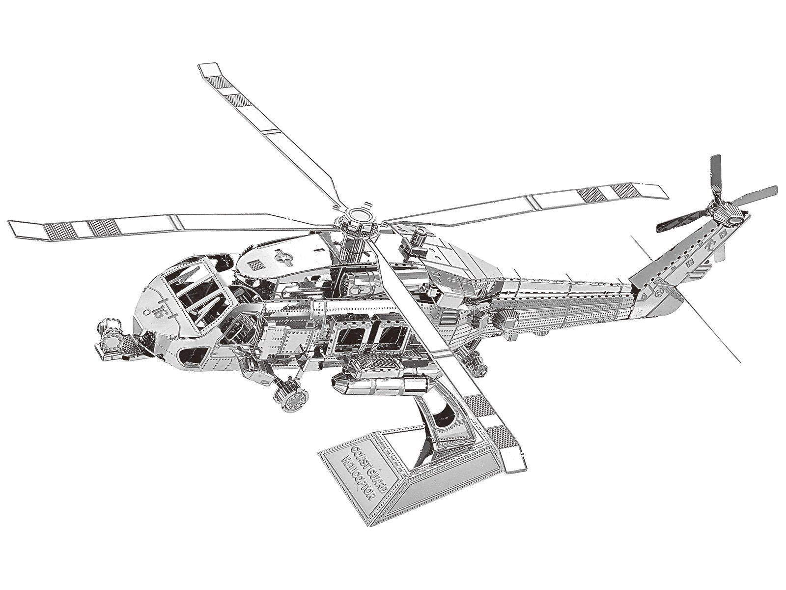 Metallbausatz Helikopter Küstenwache