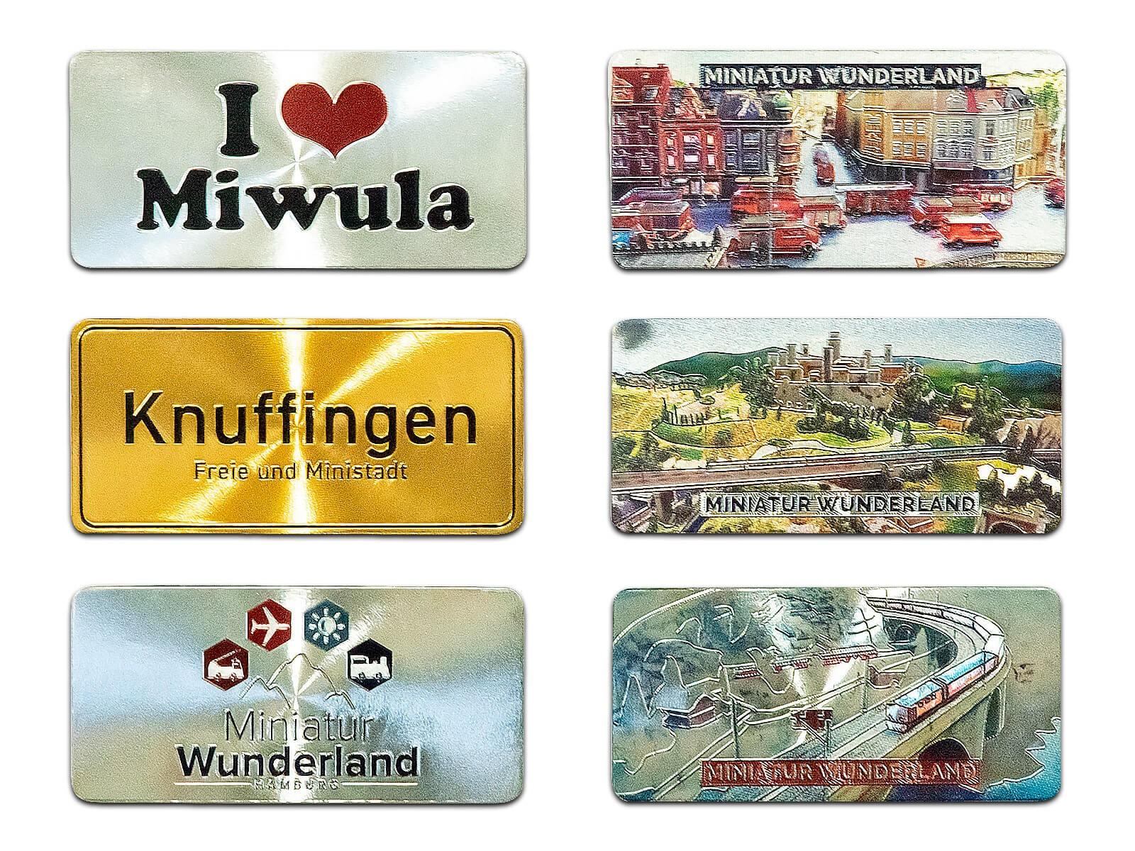 Miniatur Wunderland 6er Magnet-Set