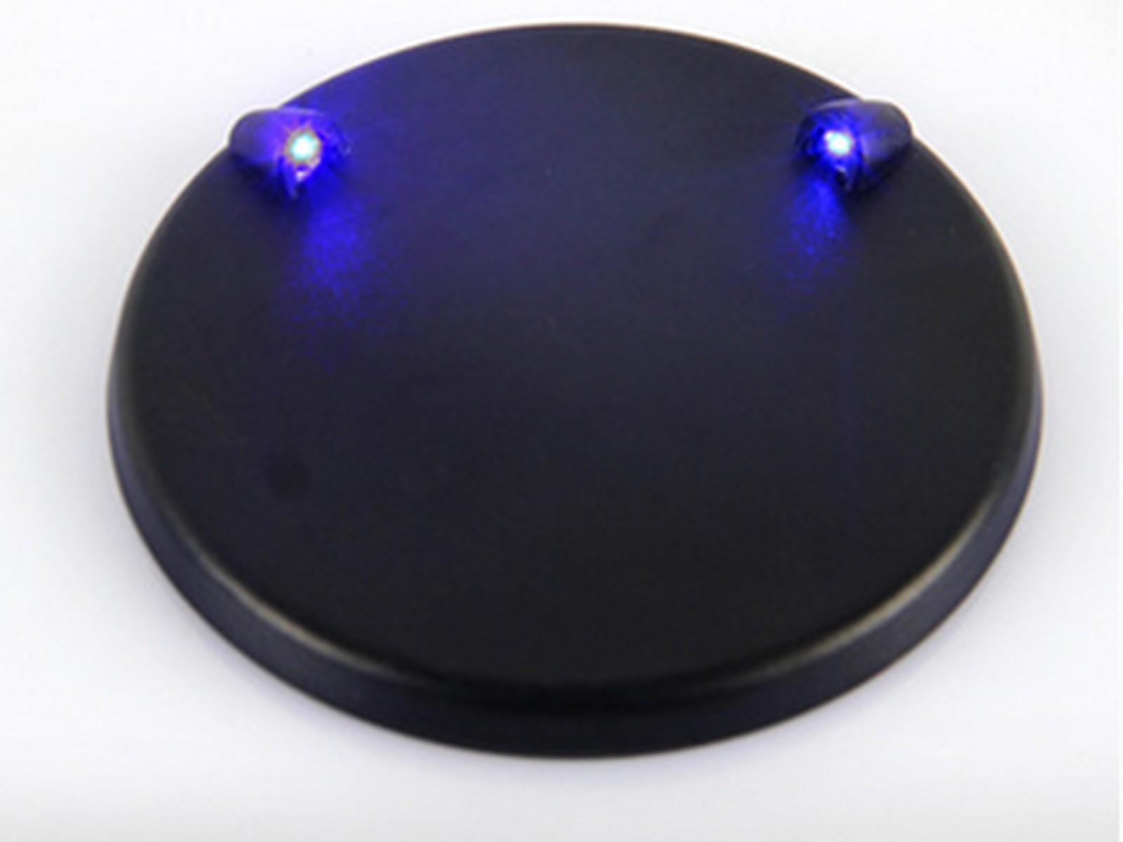 Lichtsockel mit blauem Licht
