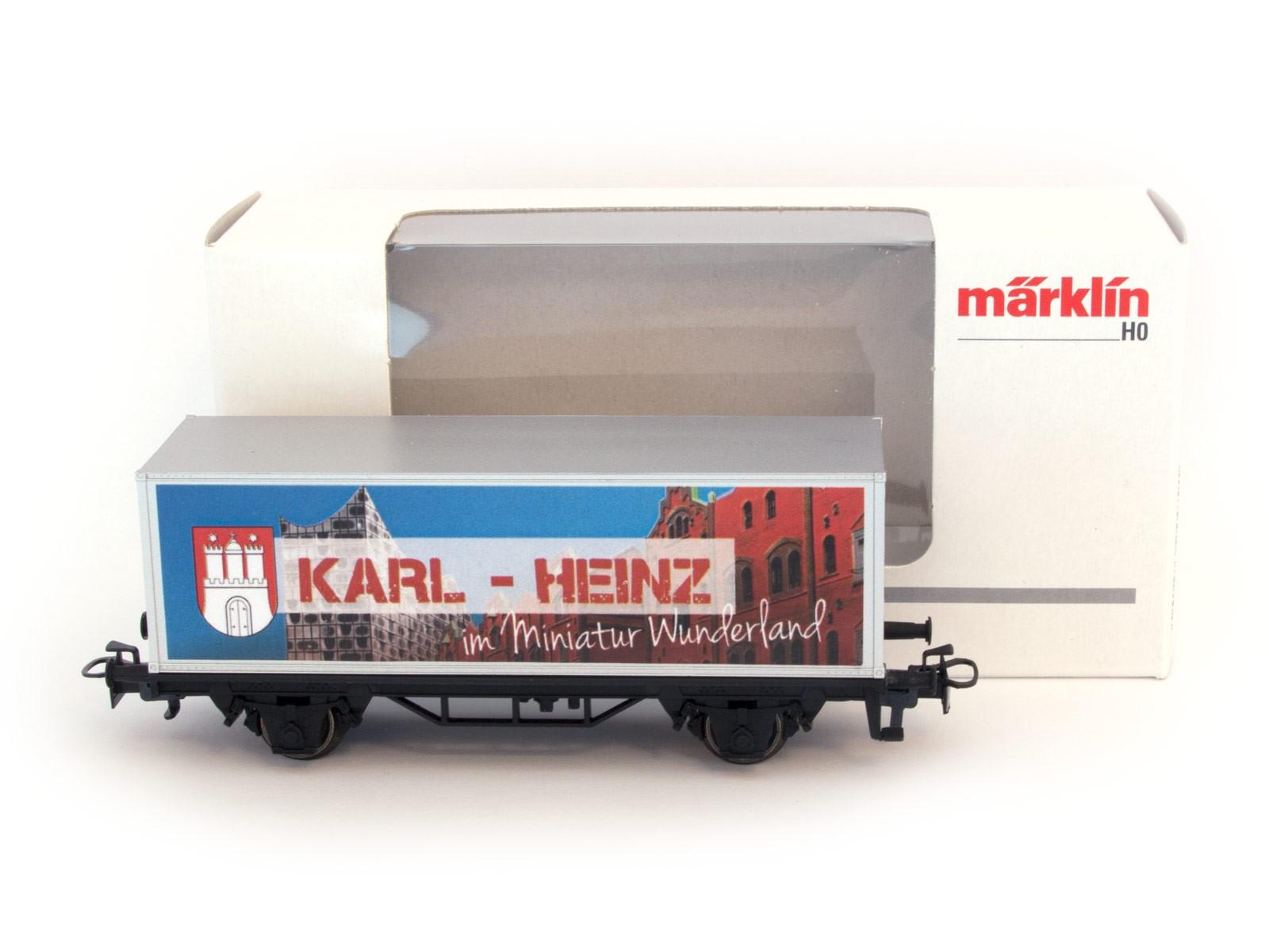 Miniatur Wunderland / Märklin H0 Sonderwaggon mit Namen männlich A-K