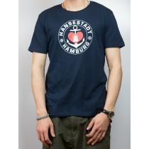 T-Shirt - Hansestadt Hamburg mit Anker und Herz