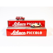 Schuco 450955100 Piccolo Mini Display I mit Mini-Van und Morgan +8 1:90