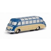 Schuco 450153700 Piccolo Setra S8 Bus Blau/Beige 1:90