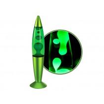 Lavalampe 35 cm in grün-metallic