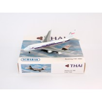 "Schuco / Schabak 3551616 Boeing 747-400 Thai International in ""Retro"" Colours 1:600"