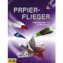 Papierflieger Buch - Faltanleitungen mit 16 Motivbögen