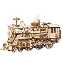 Lokomotive - bewegtes Holzmodell - Robotime Bausatz, 349 Teile