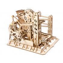 Lift-Murmelbahn - bewegtes Holzmodell Kugelbahn - Robotime Bausatz, 217 Teile