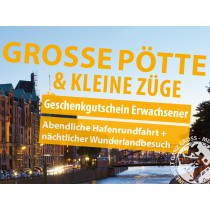 """""""Große Pötte & kleine Züge"""" Geschenkgutschein Erwachsener"""