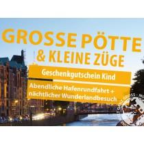 """""""Große Pötte & kleine Züge"""" Geschenkgutschein Kind (bis einschl. 15 Jahre)"""