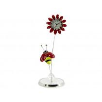 Miniatur-Uhr Blume mit Biene