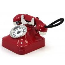 Miniatur-Uhr Telefon (rot)